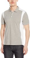 Calvin Klein Men's Liquid Cotton Short-Sleeve Stripe Blocked Polo Shirt