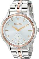 Nixon Women's 'Sala' Quartz Stainless Steel Casual Watch, Color:Silver-Toned (Model: A9942632-00)