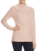 Calvin Klein Mix Stitch Cowl Neck Sweater - 100% Bloomingdale's Exclusive