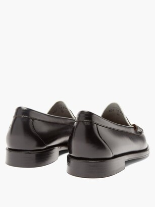 G.H. Bass & Co. Weejuns Larson Colour-block Leather Penny Loafers - Black White