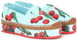 Dolce & Gabbana Exclusive to Mytheresa a Cherry printed espadrilles