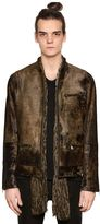John Varvatos Zip-Up Ponyskin Jacket
