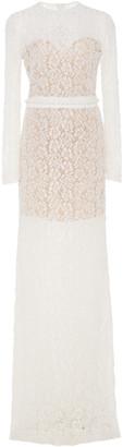 Costarellos Bridal Beaded Lace Maxi Dress