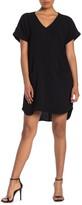 Lush V-Neck Front Pocket Shift Dress