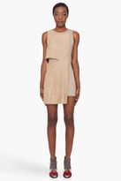 Neil Barrett Beige Torn Suede Dress