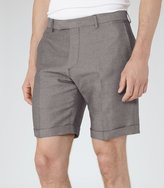 Reiss Reiss Meadow - Linen And Cotton Shorts In Grey, Mens