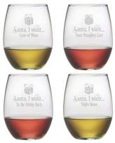 Susquehanna Glass Santa I Want 21 oz. Stemless Wine Glass