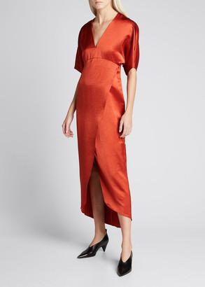 Zero Maria Cornejo Eri Faux-Wrap Dress