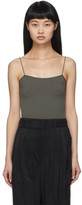 Lemaire Green Second Skin Tank Top