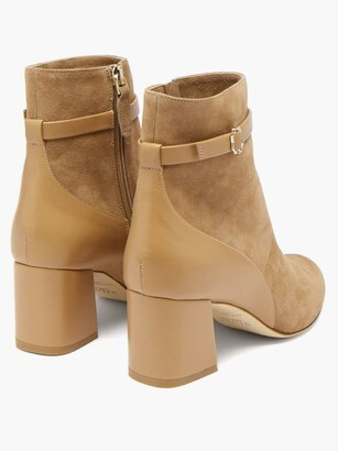 Malone Souliers Kloe Suede And Leather Ankle Boots - Tan