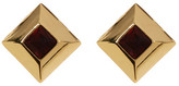 Trina Turk Small Square Button Earrings