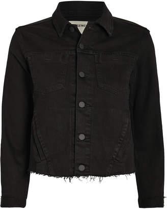 L'Agence Janelle Chain Fringe Denim Jacket