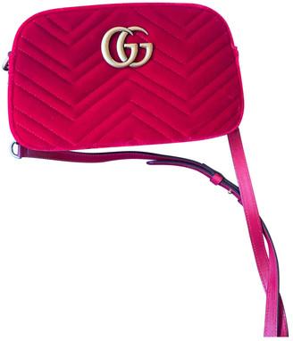 Gucci Marmont Red Suede Handbags