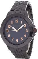 Anne Klein Women's Dial Black Tone Metal Bracelet Watch AK/2061GYRT