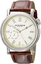 Akribos XXIV Men's AK673BR Swiss Analog Display Swiss Quartz Watch