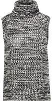 Derek Lam 10 Crosby Asymmetric Open-Knit Cotton Turtleneck Sweater