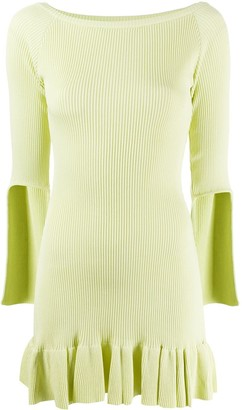 Poster Girl Flounce Hem Ribbed-Knit Dress