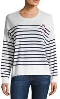 Sundry Patchwork Striped Merino Wool & Cashmere Blend Sweater