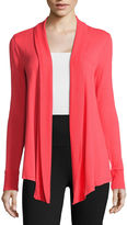 Liz Claiborne Long-Sleeve Rib-Trim Open Cardigan