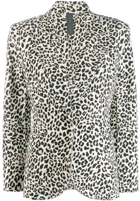 Norma Kamali Leopard Print Blazer