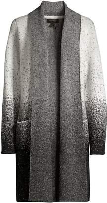 Donna Karan Speckle Print Open Front Cardigan