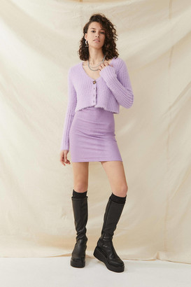 Urban Outfitters Pink Sparkle Seamless Mini Dress