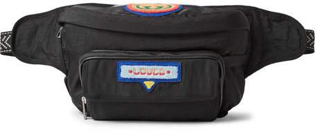 Gucci Convertible Appliqued Shell Belt Bag - Men - Black