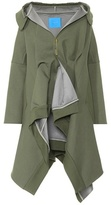 Undercover Draped cotton twill coat