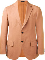 Mp Massimo Piombo - unconstructed contrast button blazer - men - Cotton/Linen/Flax/Viscose - 48