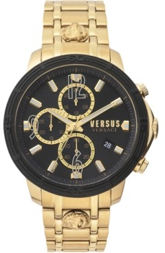 Versus By Versace Men's Chronograph Bicocca Gold-Tone Stainless Steel Bracelet Watch 46mm