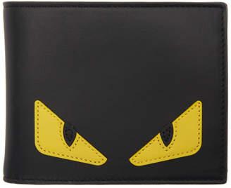 Fendi Black and Yellow Bag Bugs Wallet