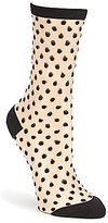 Kate Spade Dotted Sheer Crew Trouser Socks
