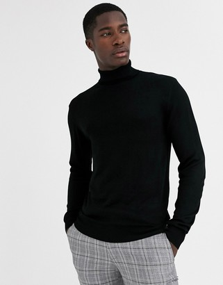 French Connection fine gauge roll neck sweater