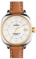 Shinola Women's The Gomelsky Square Leather Strap Watch, 36Mm