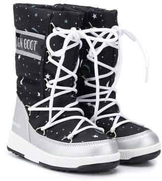 Moon Boot Kids space print snow boots