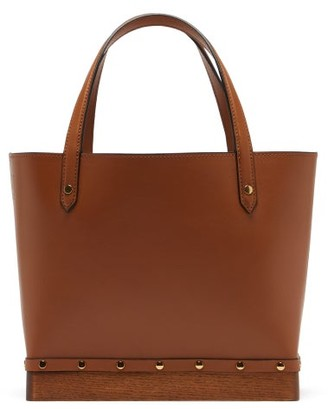 Altuzarra Clog Small Studded Leather Tote Bag - Womens - Brown