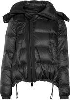 Sacai Hooded Shearling-trimmed Quilted Shell Down Coat - Black