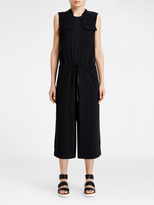 DKNY Pure Cropped Twill Jumpsuit