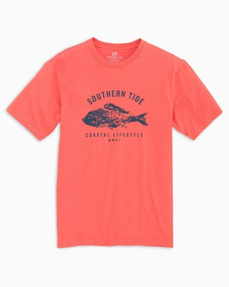 Southern Tide Fish Stamp T-Shirt