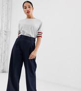Asos DESIGN Petite wide leg pants with pleat detail