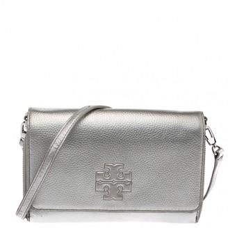 Tory Burch Silver Leather Crossbody Bag