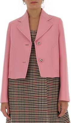 Prada Button Embellished Jacket