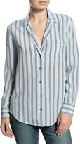 Equipment Keira Striped Button Down Blouse - Periwinkle
