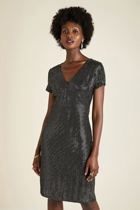 Yumi Silver Sequin Tunic Dress
