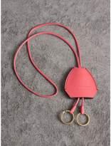 Burberry Equestrian Shield Leather Key Charm