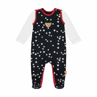 Steiff Baby Girls' Mit Suer teddybarapplikation Set Romper T-Shirt Long Sleeve