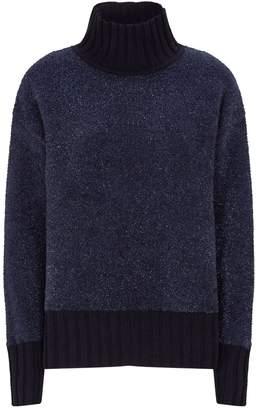 Tory Burch Metallic Knit Rollneck Sweater