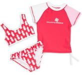 Snapper Rock Little Girl's Three-Piece Bikini & Top Set