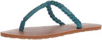 Volcom Women's Fishtail Braided T-Strap Sandal