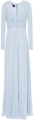 Giorgio Armani Pleated Mulberry Silk Crepe De Chine Gown